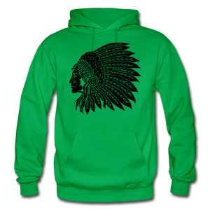 Native Hoodie - kelly green
