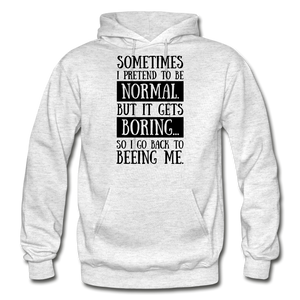 Being Me Hoodie - light heather gray