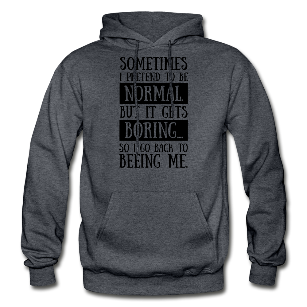 Being Me Hoodie - charcoal gray