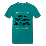 Where God Guides - teal