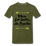 Where God Guides - olive green
