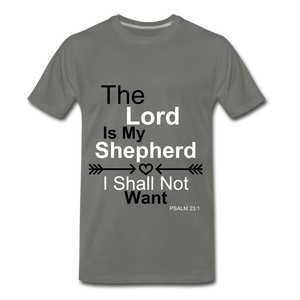 The Lord is my Shepherd - asphalt gray