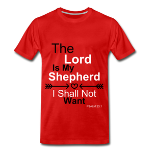The Lord is my Shepherd - red