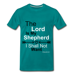 The Lord is my Shepherd - teal
