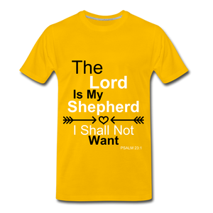 The Lord is my Shepherd - sun yellow
