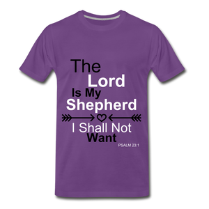 The Lord is my Shepherd - purple