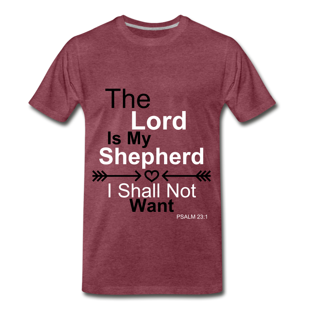 The Lord is my Shepherd - heather burgundy