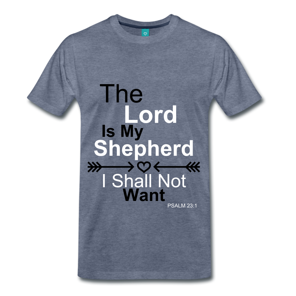 The Lord is my Shepherd - heather blue