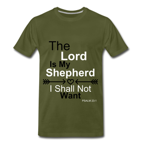 The Lord is my Shepherd - olive green
