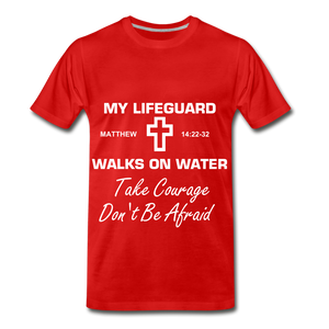 My Lifeguard walks on water - red