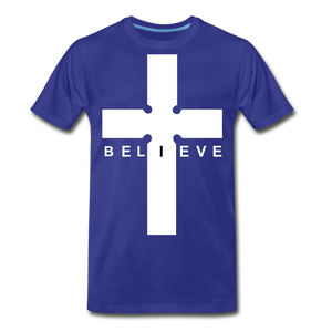 I Believe - royal blue