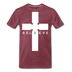 I Believe - heather burgundy