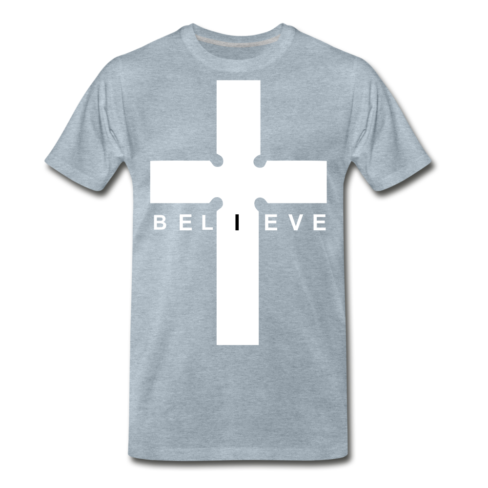 I Believe - heather ice blue