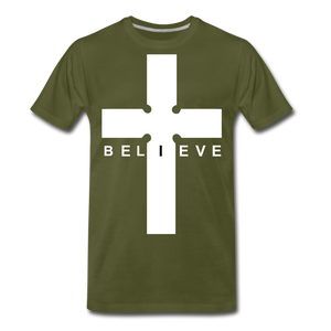 I Believe - olive green