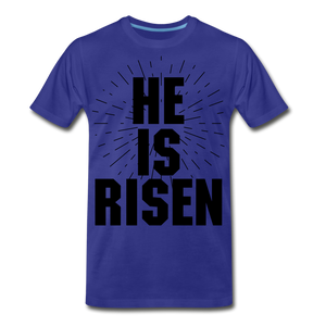 He is risen - royal blue