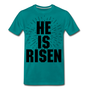 He is risen - teal