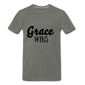 Grace Wins - asphalt gray