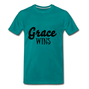 Grace Wins - teal