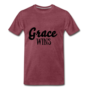Grace Wins - heather burgundy