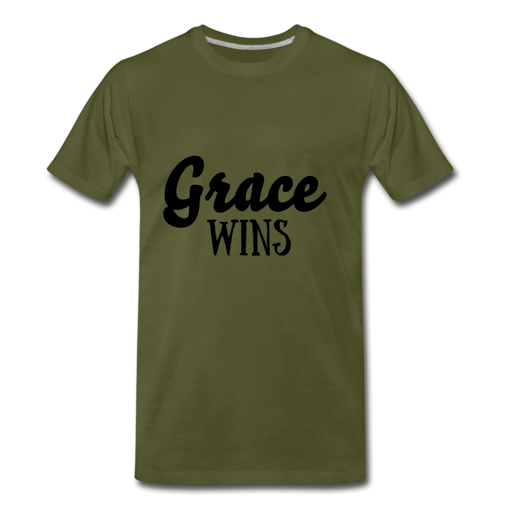 Grace Wins - olive green