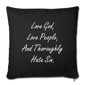 Love God Pillow - black