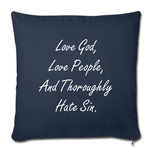 Love God Pillow - navy