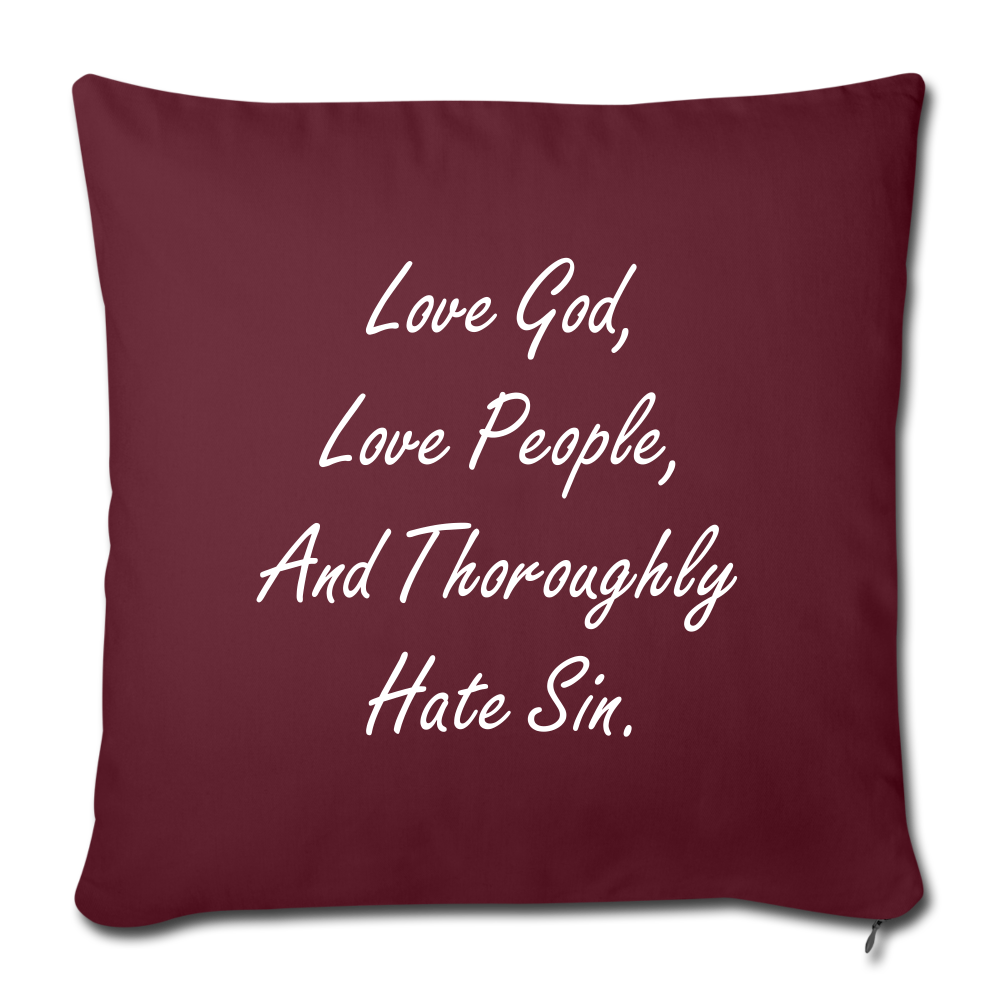 Love God Pillow - burgundy