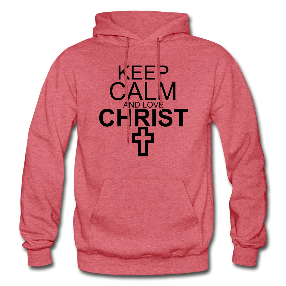 Love Christ Hoodie - heather red