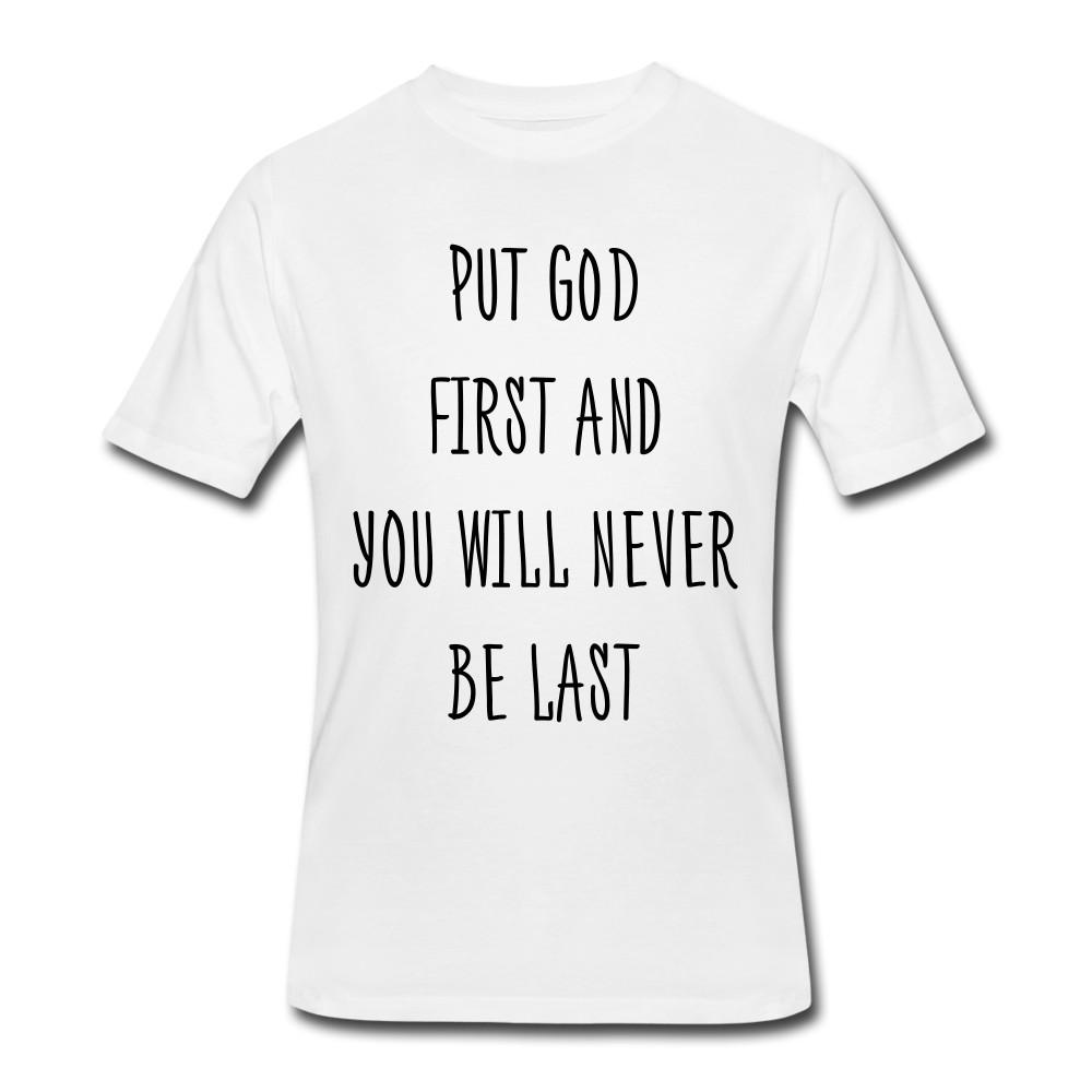GOD FIRST - white
