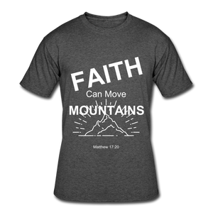 Faith Can Move Mountains - heather black