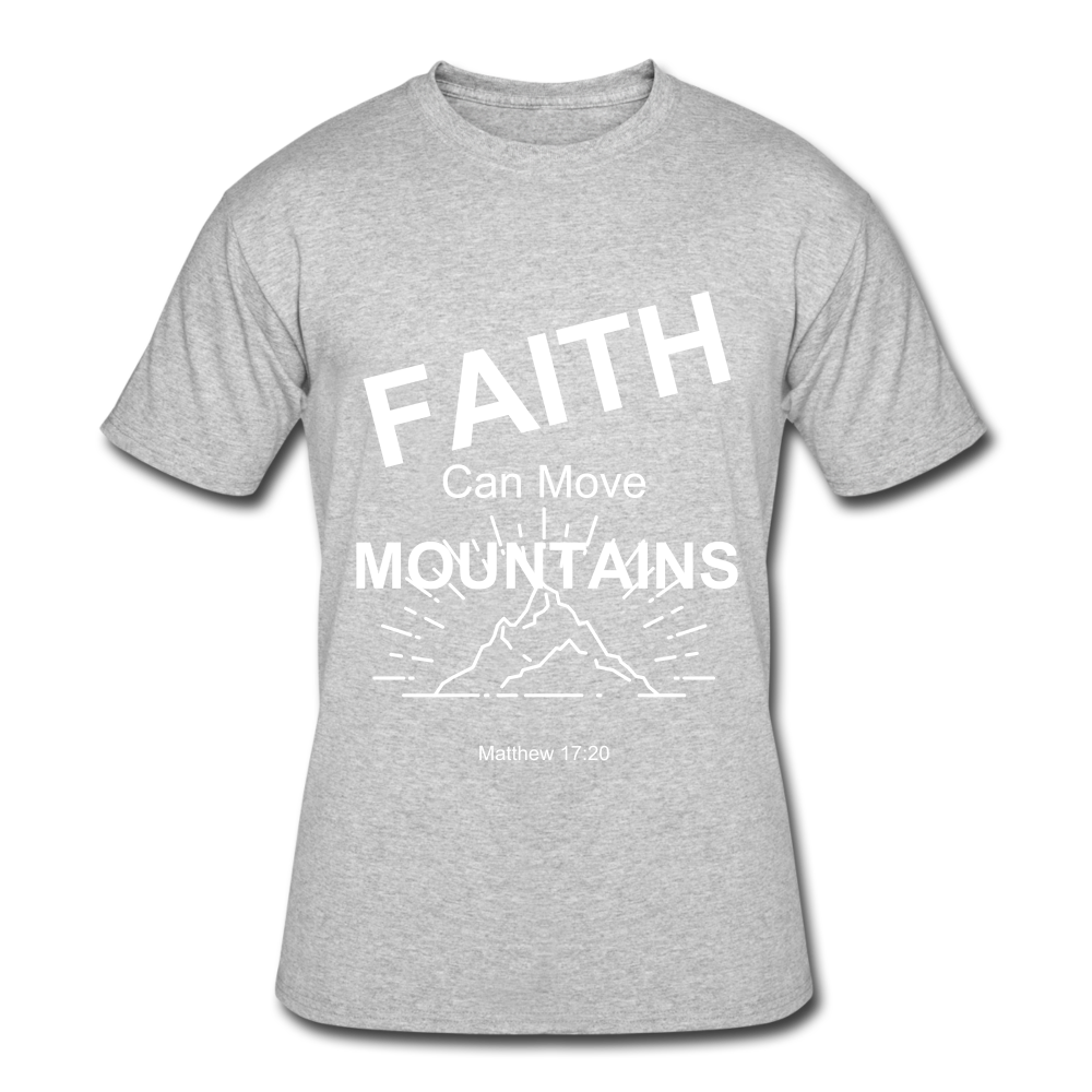 Faith Can Move Mountains - heather gray