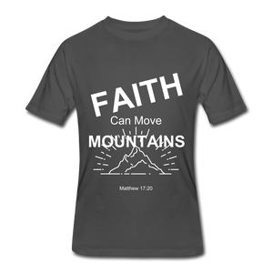 Faith Can Move Mountains - charcoal