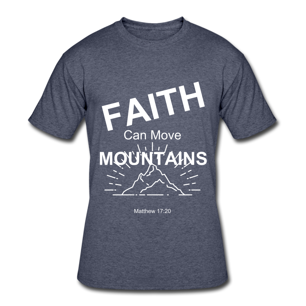 Faith Can Move Mountains - navy heather