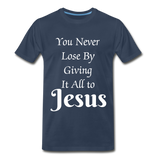 Give it all to Jesus - navy