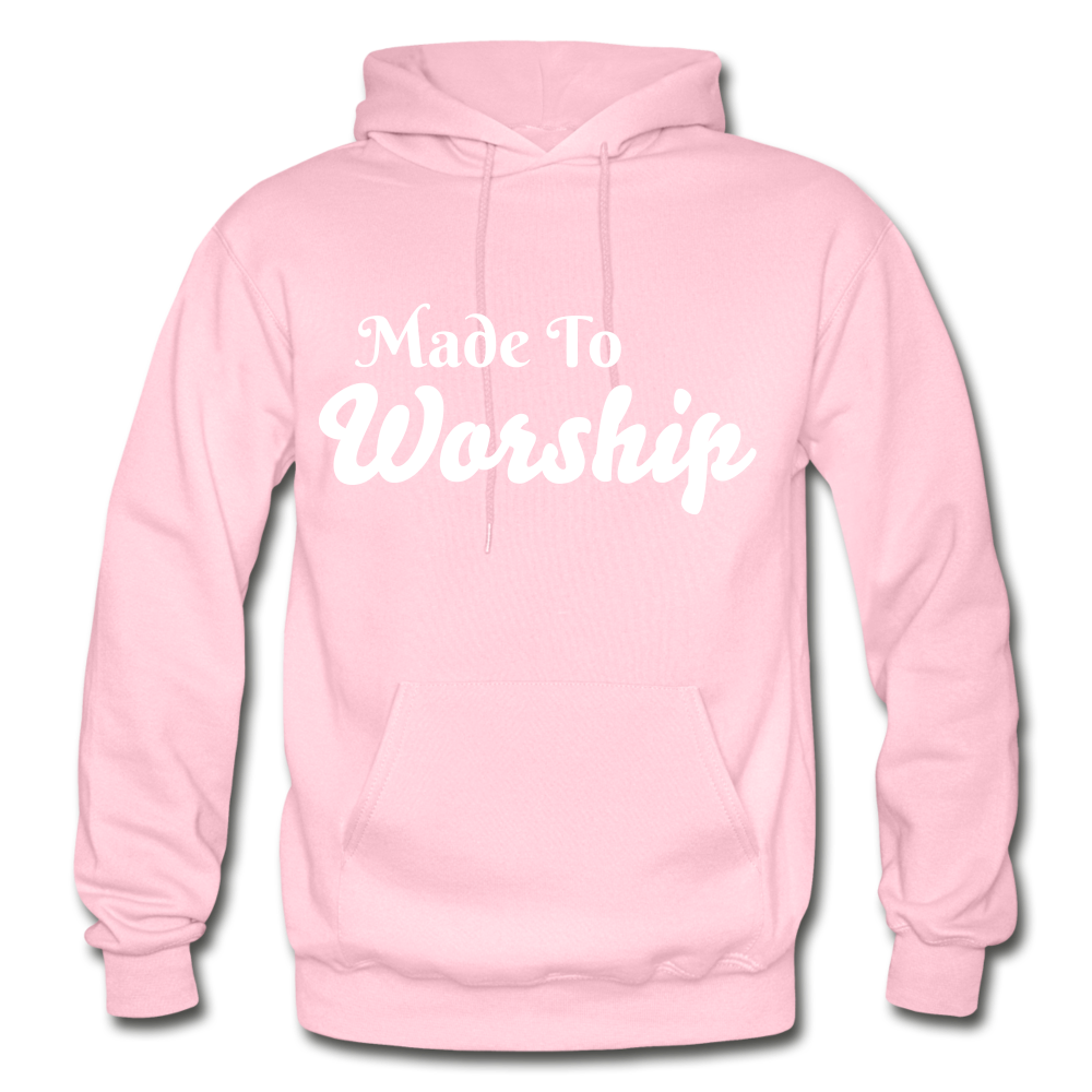 Made To Worship Hoodie - light pink