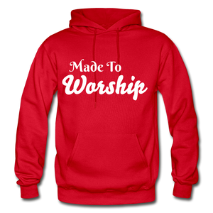 Made To Worship Hoodie - red