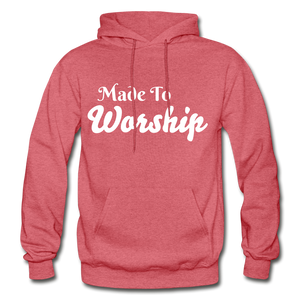Made To Worship Hoodie - heather red