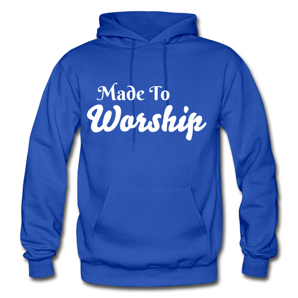Made To Worship Hoodie - royal blue