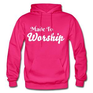 Made To Worship Hoodie - fuchsia