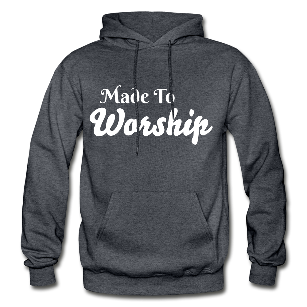 Made To Worship Hoodie - charcoal gray