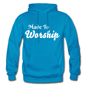 Made To Worship Hoodie - turquoise