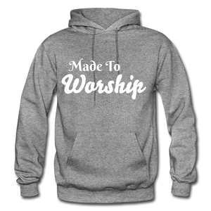 Made To Worship Hoodie - graphite heather
