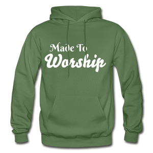 Made To Worship Hoodie - military green