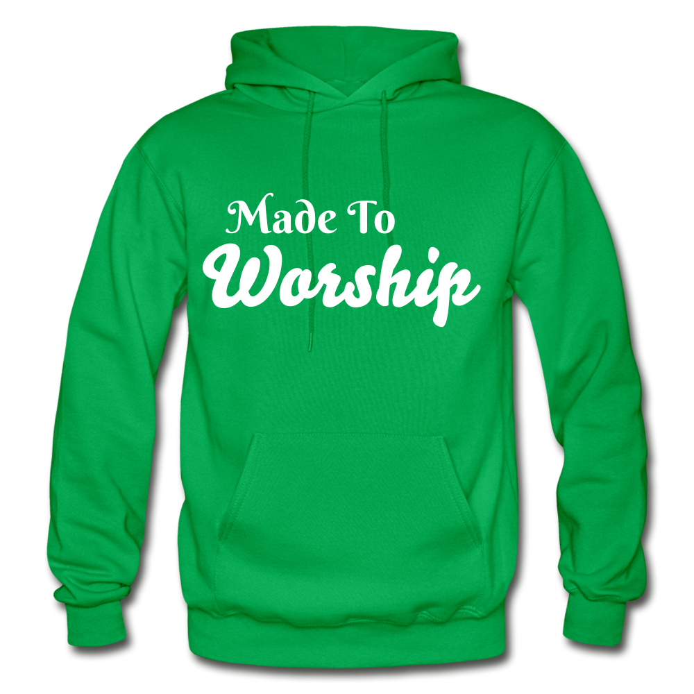 Made To Worship Hoodie - kelly green