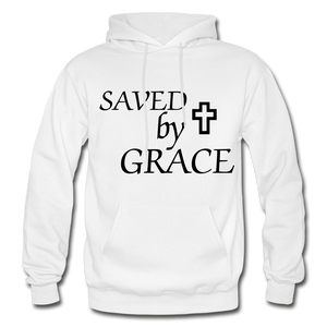 Saved By Grace. - white