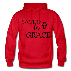 Saved By Grace. - red