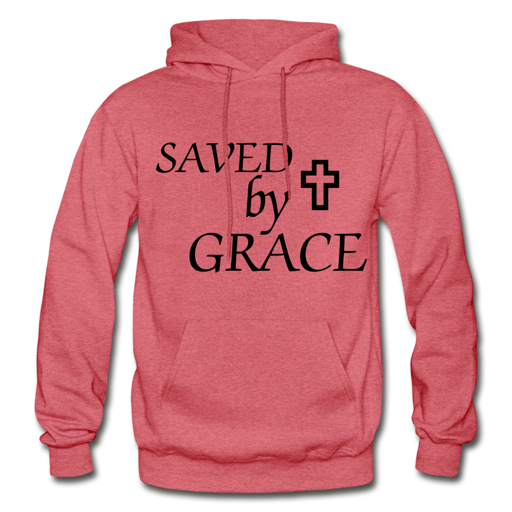 Saved By Grace. - heather red