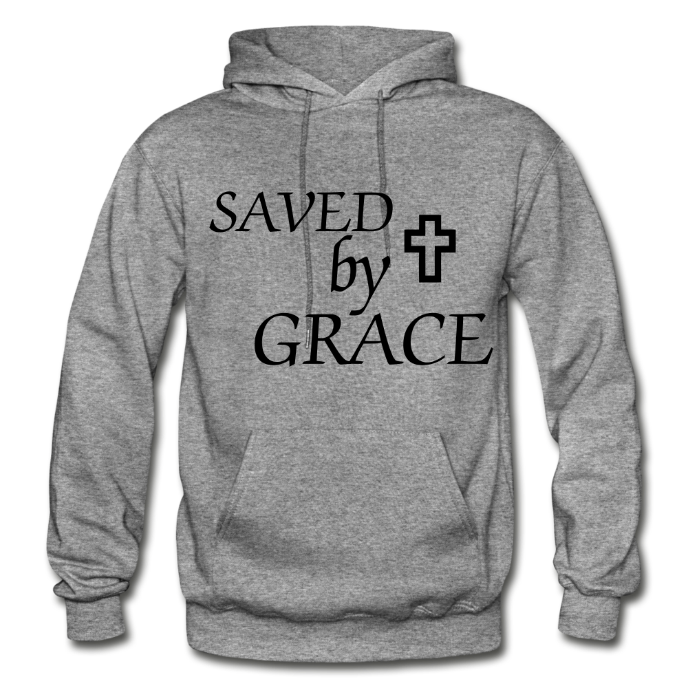 Saved By Grace. - graphite heather