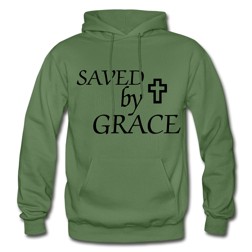 Saved By Grace. - military green