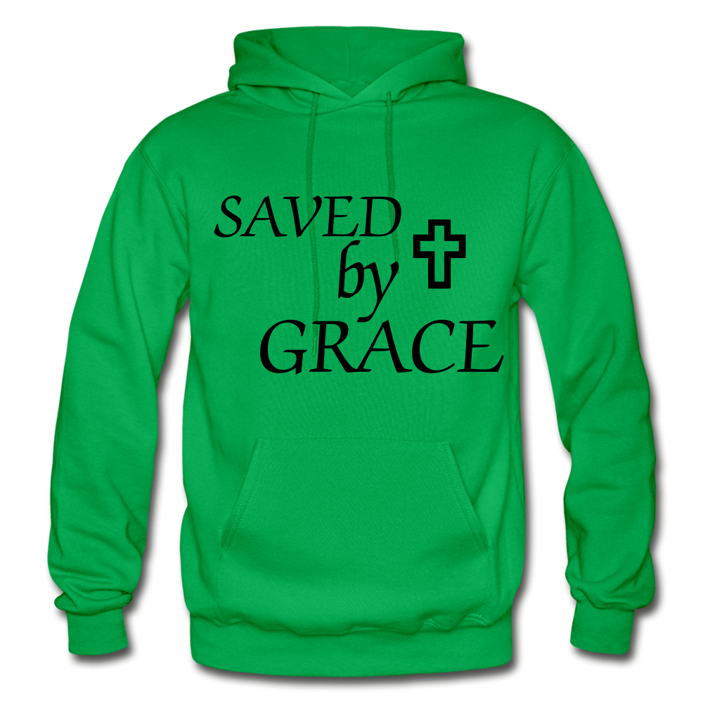 Saved By Grace. - kelly green